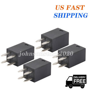 4x 12v 4 Pin Micro Relay Spdt 35 20 Amp Iso 280 Automotive Relay For Song Chuan