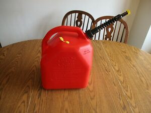 5 Gallon Plastic Gas Can Converted To A Vented Style With New Spout