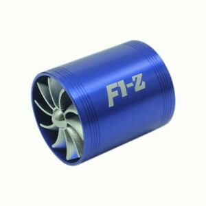 Universal Fuel Gas Saver Air Filter Intake Supercharger Turbine Turbo Fan