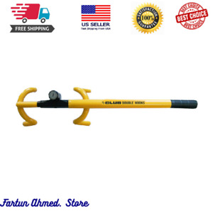 The Club 3000 Twin Hooks Steering Wheel Lock Yellow 365mm 14 4 Inches