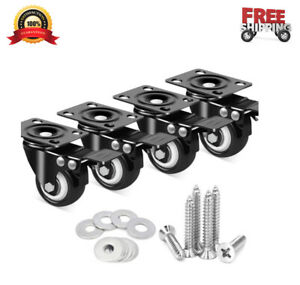 4pcs 2 Caster Wheels With Dual Locking heavy Duty Cart Wheels Workbench Casters
