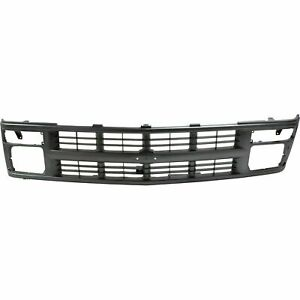 New Grille Painted Silver Gray Shell And Insert Fits Chevrolet Blazer 1994 2000