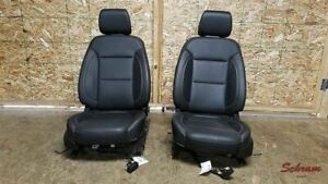 Traverse Front Driver And Passenger Black Leather Seat Set 2018 Airbags 1913470