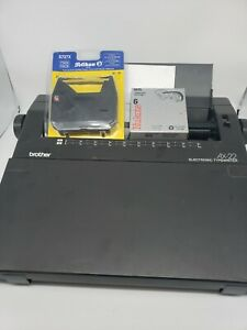 Brother Ax 22 Electric Typewriter Tested Extra Ribbon Correction Tape