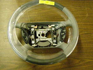Nos 1999 2000 2001 Ford Mustang Grey Leather Steering Wheel Two Tone New Oem