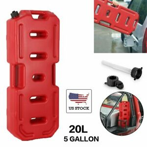 20l 5gallon Can Emergency Backup Tank Fuel Gas Gasoline Tank For Jeep Suv Us