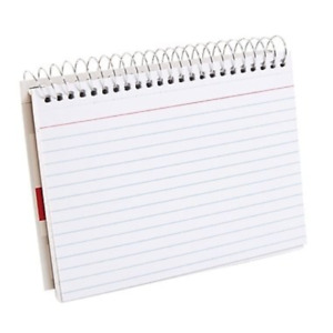 Staples Spiral bound Index Cards 4 X 6 Ruled White 3 pack 15098