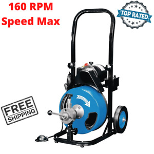 Motorized Snake Cleaner Clog Remover 50 Electric Drain Machine Auto Power Feed