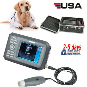 5 5 Handheld Veterinary Ultrasound Scanner For Animals With 3 5mhz Probe Usa