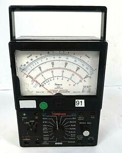 Simpson 260 Series 6xlpm Overload Protected ohm Multimeter As is free Shipping
