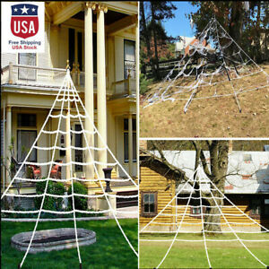 Halloween Decoration Giant Spider amp; Web Party Props Decor Outdoor Fancy Dress
