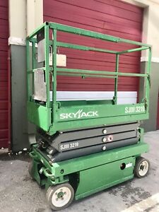 2014 Skyjack Sjiii 3219 19 Ft Electric Scissor Lift Aerial Platform