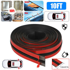 Car Door Window Edge Trim Molding Rubber Weatherstrip Seal Strip Protector 3m