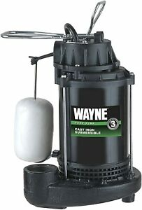 Wayne 1 3 Hp Submersible Cast Iron And Steel Sump Pump With Integrated Vertical