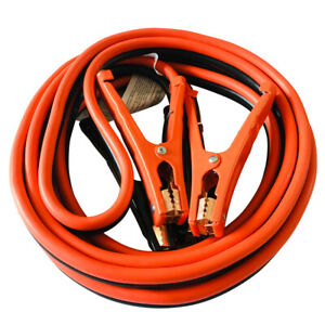Heavy Duty 12 Ft 6 Gauge Battery Jumper Power Booster Cable Emergency 500 Amp