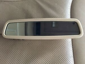 97 99 Mercedes W140 Interior Inside Rear View Mirror Auto Dimming Homelink Tan