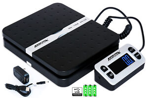 Accuteck Shippro W 8580 110lbs X 0 1 Oz Black Digital Shipping Postal Scale