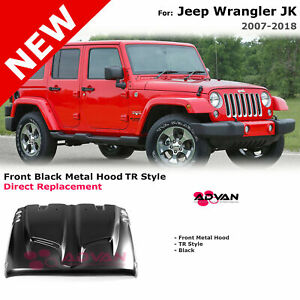 Steel Hood For 2017 2018 Jeep Wrangler Jku 4 Door Jk 2 Door Tr Style