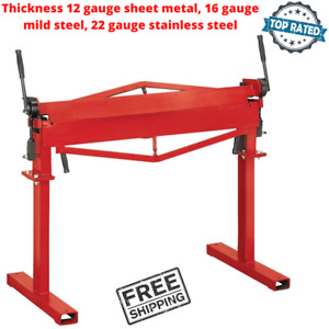 36 Inch Bender Tool For Sheet Stainless Mild Steel Bends Metal Brake With Stand