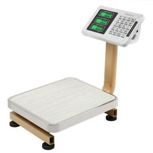 80kg 176lb Lcd Digital Floor Platform Scale Electronic For Postal Super Market