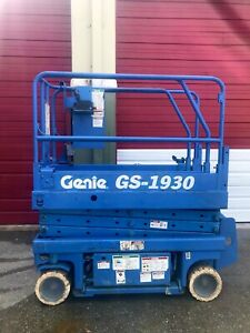 Genie Gs 1930 19 Ft Electric Scissor Lift Aerial Platform