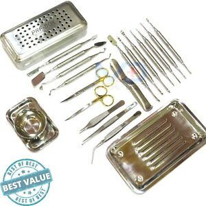 Dental Periosteal Elevator Set Prf Box Bone Surgery Implant Instruments Kit Ce