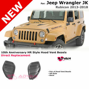 Hr 10th Anniversary Style Hood Vents Inserts Kit For 13 18 Jeep Wrangler Jk Jku