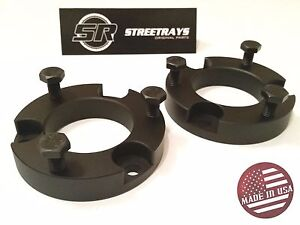 Sr 1 5 Front Leveling Spacer Lift Kit For 05 20 Tacoma Fj Cruiser 4wd 2wd Blk
