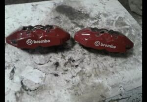 09 16 Hyundai Genesis Brake Caliper Set Brembo Rear Set