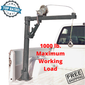 Truck Bed Crane Pickup Back Trailer Mount With Hand Winch 1000 Lb Load 1 2 Ton