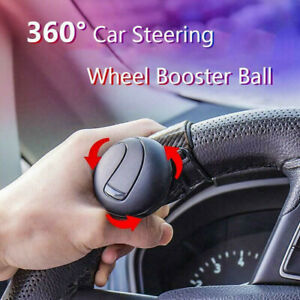 360 Car Power Steering Wheel Ball Suicide Auxiliary Knob Booster Spinner Handle