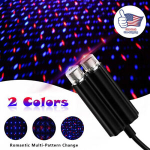 Dual Head Usb Car Interior Led Roof Atmosphere Starry Lamp Star Projector Lights