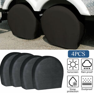 Waterproof Tire Covers Set Of 4 Wheel Tyre Rv Trailer Camper Sun Protector 32
