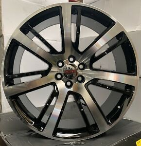 26 Chevy Tahoe Silverado Wheels Tires Gmc Yukon Sierra Escalade Black Machine