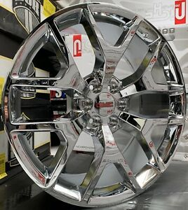 26 Gmc Sierra Yukon Denali Chrome Wheels Tires Chevy Silverado Tahoe Rims 6lugs
