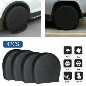 4pcs Waterproof Tire Covers Wheel Tyre Rv Trailer Camper Sun Protector 32