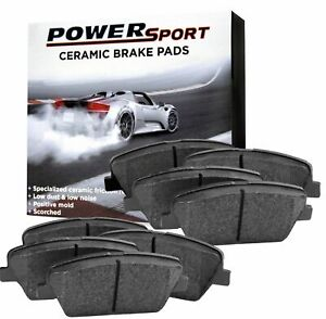 For 12 2008 Nissan Rogue Powersport Front Rear Ceramic Brake Pads