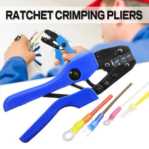 Ratchet Crimper Electrical Cable Wire Ferrule Pliers Cutter Tool Kit