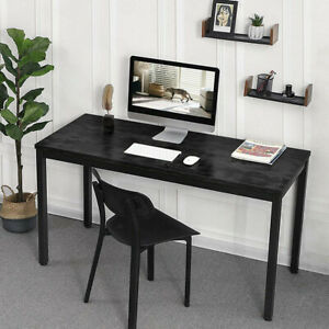 55in Computer Desk Pc Laptop Table Wood Workstation Study Home Office Furniture