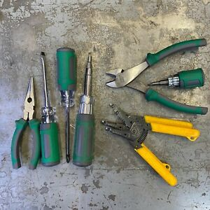 Commercial Electric Ideal Electrical Tool Lot Pliers Strippers Screw Drive