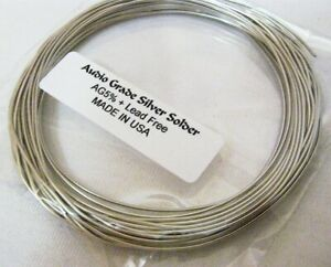 High End Audio Grade 5 Silver Solder 15ft lead Free Made In Usa