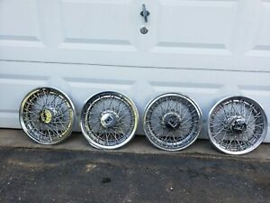 Set 4 Oldsmobile 15 Wire Spoke Hubcaps Wheel Covers 1970s 1980s Rwd