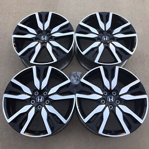 Set Of 4 20 Honda Pilot Ridgeline Black Wheels Rims Factory Oem 63149 2019 2020