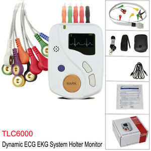 Tlc6000 Dynamic Ecg Systems 12 lead Ekg Holter 48 Hour Recorder Monitor Software