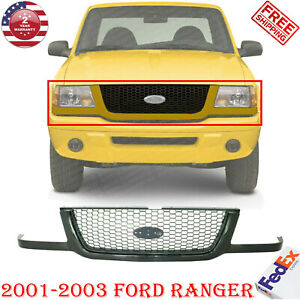Front Grille Primed Shell And Insert For 2001 2003 Ford Ranger
