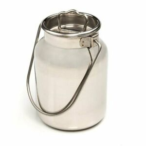 Functional And Decorative Stainless Steel Milk Can 11 H 2 6 Gallon
