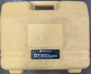 Topcon Dt 209 Optical Digital Theodolite With Carrying Case See Pictures