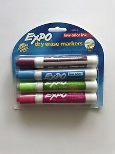 Expo Low Odor Chisel Tip Dry Erase Markers 4 Colored Markers