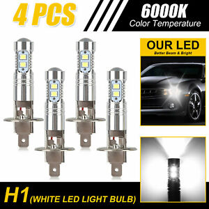 4pcs H1 220w Cree Led Headlight Bulbs Kit Fog Driving Light 6000k Super White