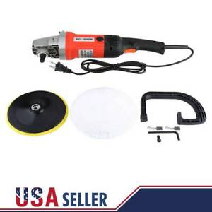 7 Electric Car Polisher Buffer Sander With Pad Bonnet Variable 6 Speed